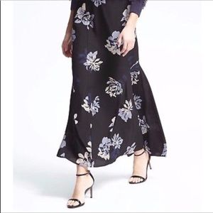 Banana Republic Maxi Skirt Flounced Floral 4 NWT